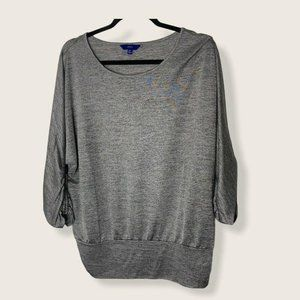 Apt. 9 Pullover Top Womens Extra Large Silver